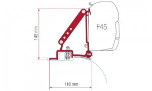 Adapter do markizy Fiamma F45 Ducato do 2006